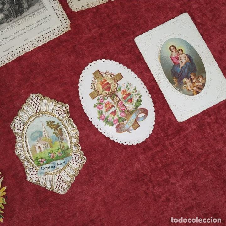 Arte: COLECCIÓN DE 42 ESTAMPAS RELIGIOSAS TROQUELADAS. ESPAÑA. SIGLO XIX-XX - Foto 12 - 251827840