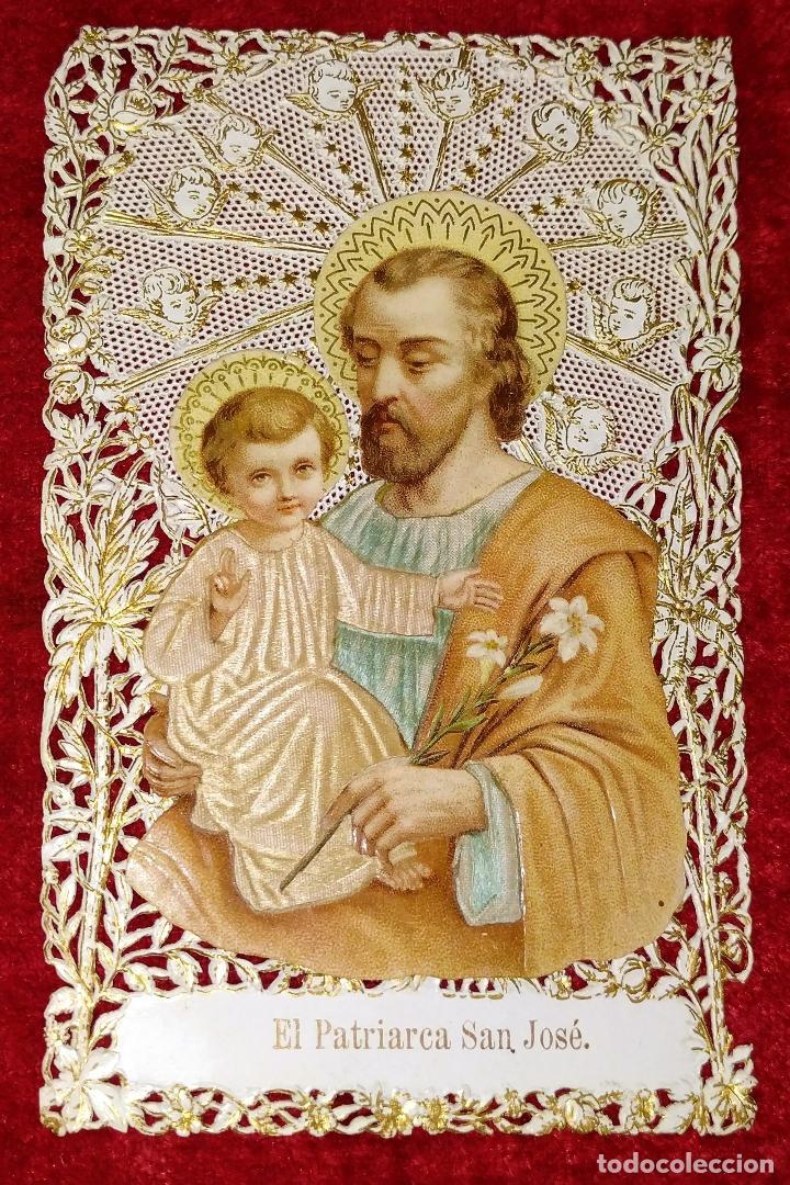 COLECCIÓN DE 42 ESTAMPAS RELIGIOSAS TROQUELADAS. ESPAÑA. SIGLO XIX-XX (Arte - Arte Religioso - Litografías)