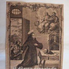 Arte: ANTIGUO GRABADO INDULGENCIA OBISPO DE TORTOSA. AÑO 1774. VER FOTOS. ORIGINAL 32 X 21 CTMS. Lote 252159380