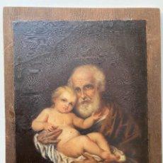 Arte: OLEO DEL XIX , SAN JOSÉ CON NIÑO DIOS ,. Lote 90516090