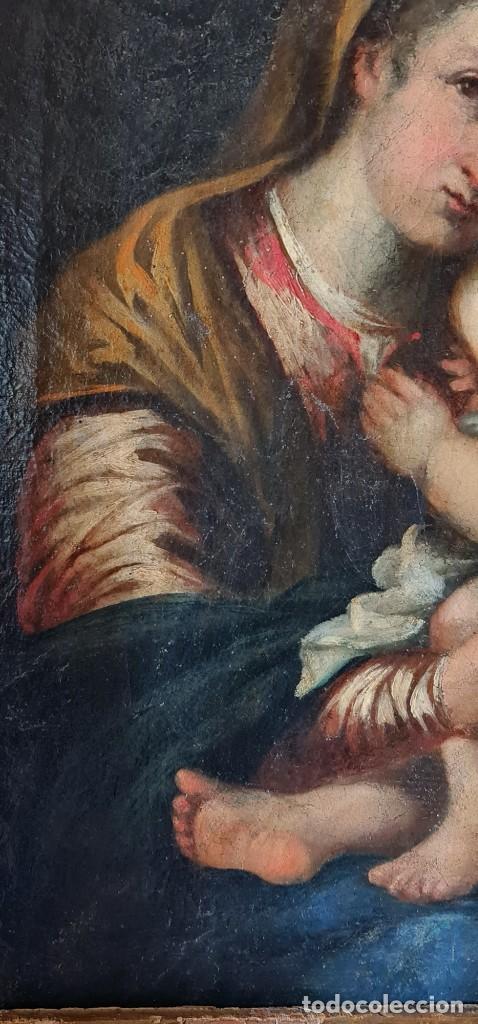 Arte: Virgen con Niño. Óleo sobre tela. Oil on canvas. Siglo 18th century. Anónimo. Spanish school - Foto 5 - 248219940