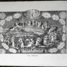 Arte: LITOGRAFIA VIA CRUCIS - CIRCA 1825 - PASCUAL - VALENCIA - ULTIMA CENA - 43,5X32CM. Lote 252577685