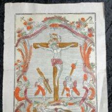 Arte: CHRISTO DE JERUSALEN - IMPRENTA LABORDA - VALENCIA - PLIEGO COLOR- S.XVIII - 43X31CM. Lote 252578070