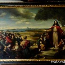 Arte: CUADRO DE JESUS PREDICANDO EN EL LAGO TIBERIADES , GRAN TAMAÑO. 185 X 135. Lote 252738350