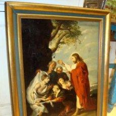 Arte: CUADRO ANTIGUO, COPIA DE RUBENS RESURRECION DE LAZARO.. Lote 252746270