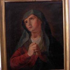 Arte: ANTIGUA PINTURA RELIGIOSA. VIRGEN DOLOROSA. S.XVIII-XIX. ENMARCADA 57X46CM. Lote 252799485