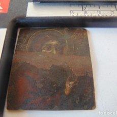 Arte: PEQUEÑA PINTURA RELIGIOSA, AL OLEO SOBRE COBRE A DOS CARAS , DEFECTUOSA, RESTAURAR. Lote 253025235