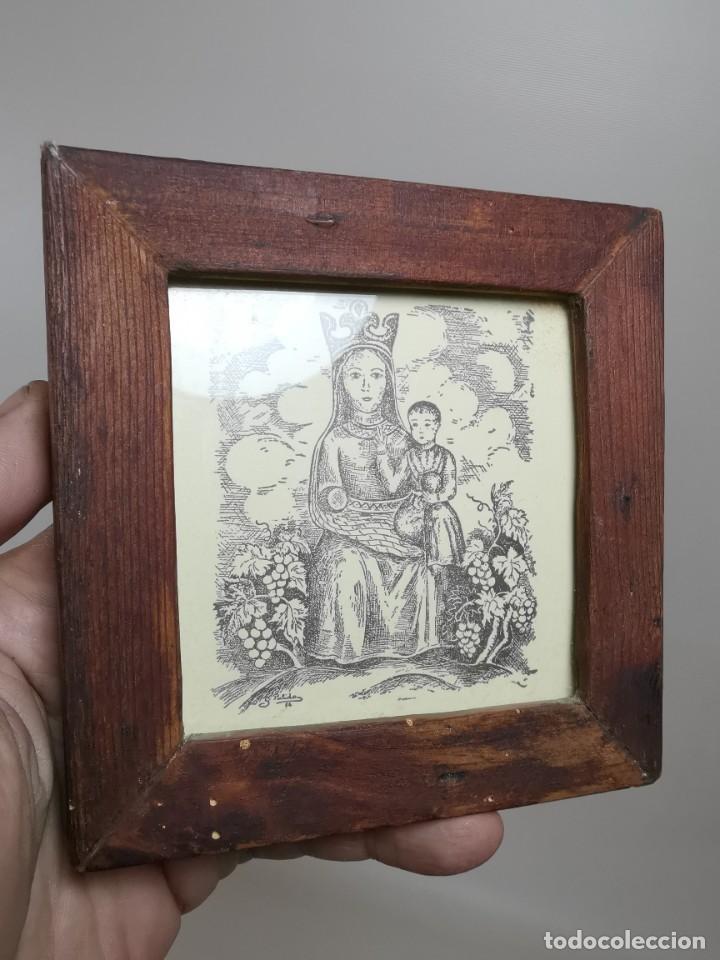 Arte: VERGE SANTA DEL VINYET..FIRMADO G.PULIDO 1956 SE DESCONOCE TECNICA GRÁFICA DE IMPRESION---REF-MO - Foto 2 - 253107400