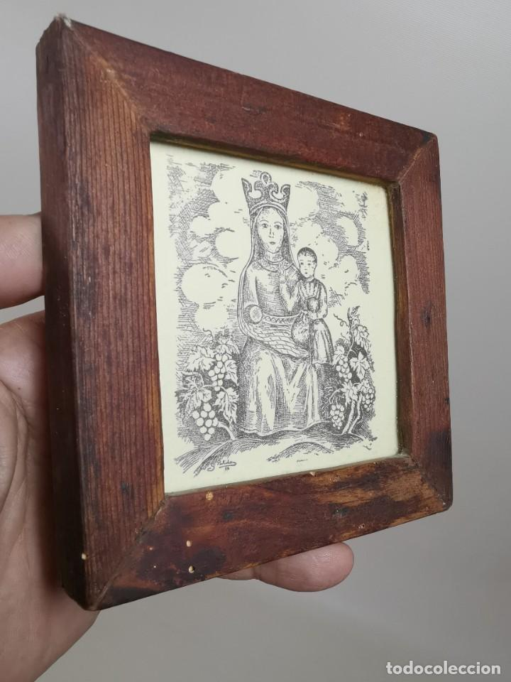 Arte: VERGE SANTA DEL VINYET..FIRMADO G.PULIDO 1956 SE DESCONOCE TECNICA GRÁFICA DE IMPRESION---REF-MO - Foto 8 - 253107400