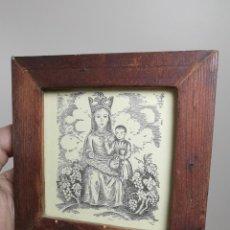 Arte: VERGE SANTA DEL VINYET..FIRMADO G.PULIDO 1956 SE DESCONOCE TECNICA GRÁFICA DE IMPRESION---REF-MO. Lote 253107400