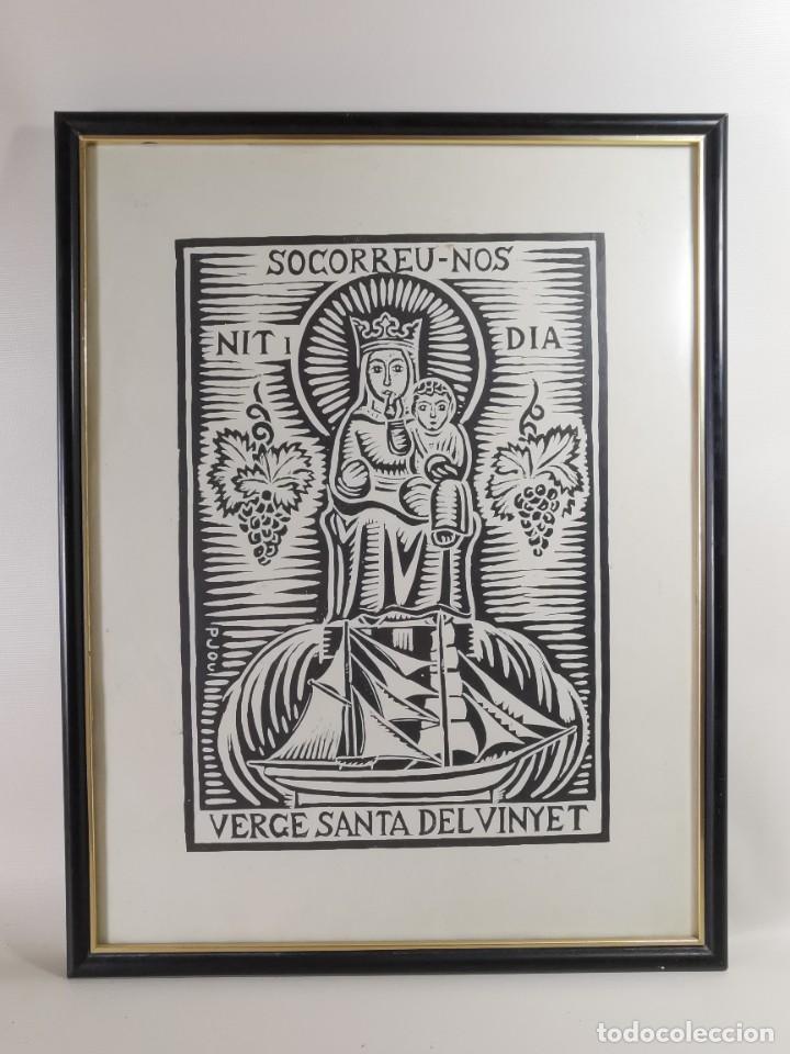Arte: VERGE SANTA DEL VINYET..FIRMADO P JOU SE DESCONOCE TECNICA GRÁFICA DE IMPRESION---REF-MO - Foto 2 - 253107885