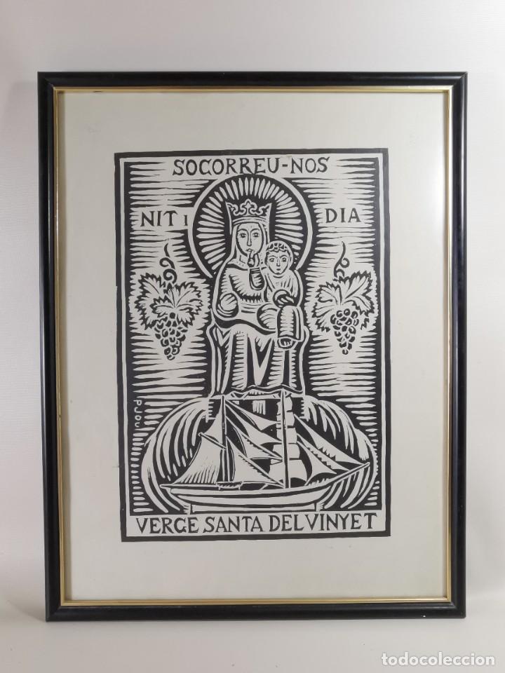 Arte: VERGE SANTA DEL VINYET..FIRMADO P JOU SE DESCONOCE TECNICA GRÁFICA DE IMPRESION---REF-MO - Foto 3 - 253107885