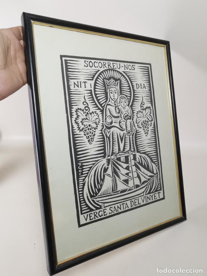 VERGE SANTA DEL VINYET..FIRMADO P JOU SE DESCONOCE TECNICA GRÁFICA DE IMPRESION---REF-MO (Arte - Arte Religioso - Litografías)