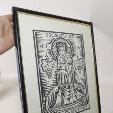 Arte: VERGE SANTA DEL VINYET..FIRMADO P JOU SE DESCONOCE TECNICA GRÁFICA DE IMPRESION---REF-MO. Lote 253107885