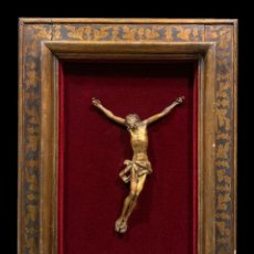 Arte: MAGNIFICO CRISTO EN MADERA DORADA, S. XVIII. Lote 253171235