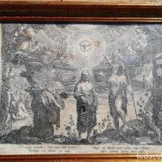 Arte: GRABADO HACIA 1620. BAUTISMO DE CRISTO. CORNELIS GALLE 1576-1650. Lote 253209030