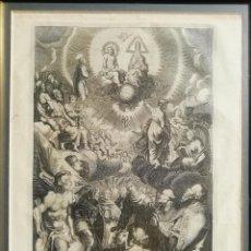Arte: EXALTACIÓN DE LA GLORIA. GRABADO ORIGINAL S. XVIII. Lote 253209305