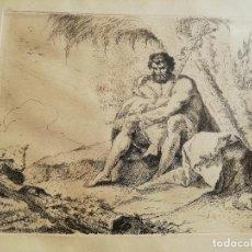 Arte: RAMÓN BAYEU. GRABADO AGUAFUERTE. HE AQUÍ EL CORDERO DE DIOS. ORIGINAL DE LA ÉPOCA. Lote 253215700