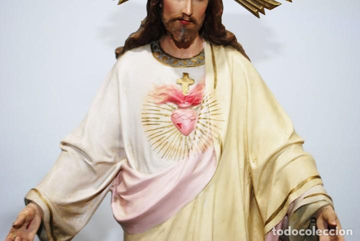 Arte: FIGURA RELIGIOSA O IMAGEN CORAZÓN DE JESÚS - Foto 3 - 253228530