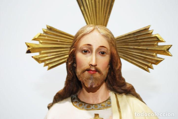 Arte: FIGURA RELIGIOSA O IMAGEN CORAZÓN DE JESÚS - Foto 4 - 253228530