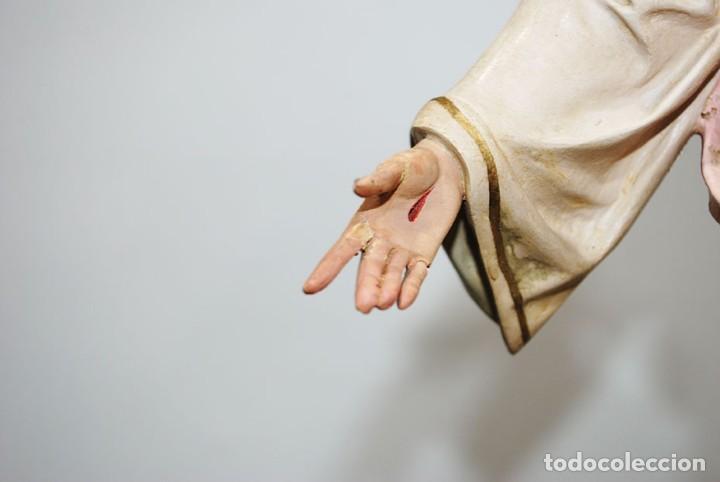 Arte: FIGURA RELIGIOSA O IMAGEN CORAZÓN DE JESÚS - Foto 5 - 253228530