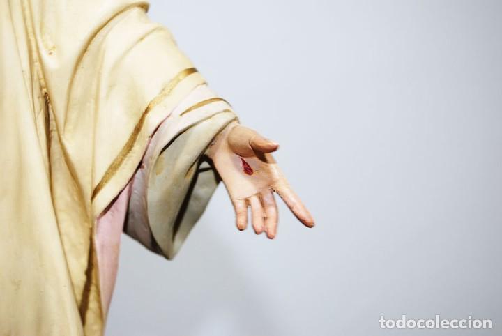 Arte: FIGURA RELIGIOSA O IMAGEN CORAZÓN DE JESÚS - Foto 6 - 253228530