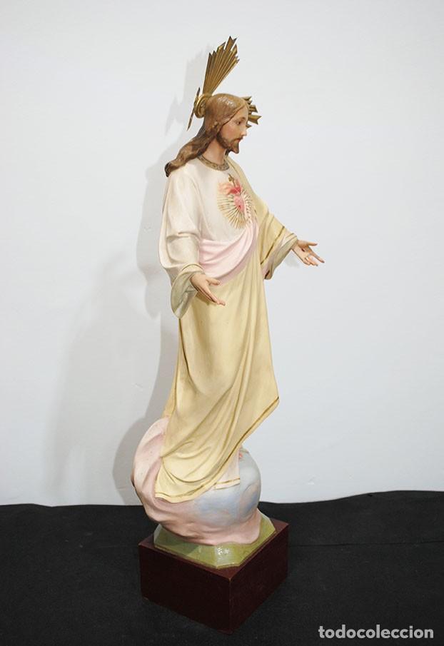 Arte: FIGURA RELIGIOSA O IMAGEN CORAZÓN DE JESÚS - Foto 7 - 253228530