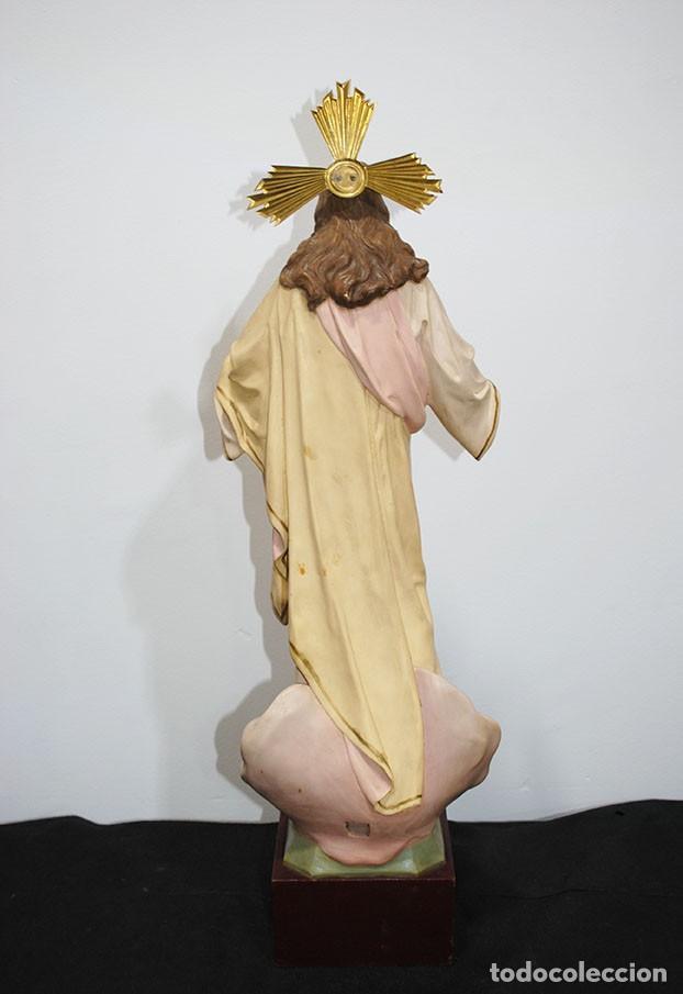 Arte: FIGURA RELIGIOSA O IMAGEN CORAZÓN DE JESÚS - Foto 9 - 253228530