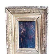 Arte: ANTIGUO ÓLEO RELIGIOSO SOBRE COBRE S XVII IMAGEN DE JESUS. Lote 253306935