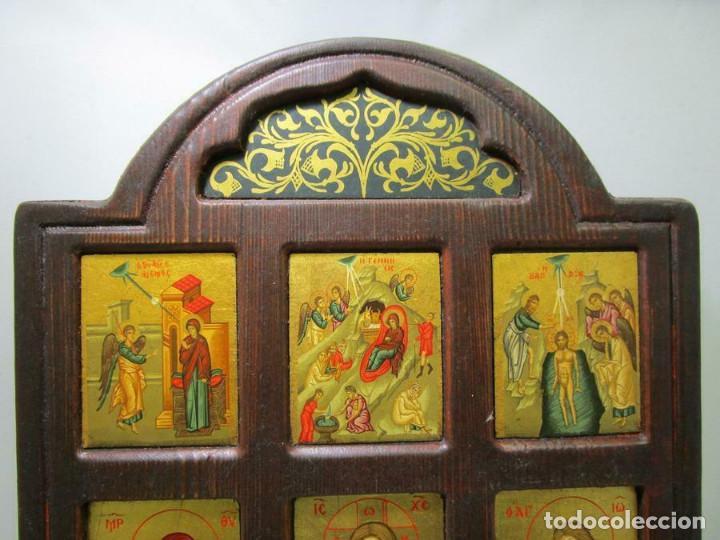 Arte: MAGNIFICO ICONO MADERA IMAGENES CON CERTIFICADO 29,5 X 22 cm OBRA DE ARTE - Foto 2 - 253357365