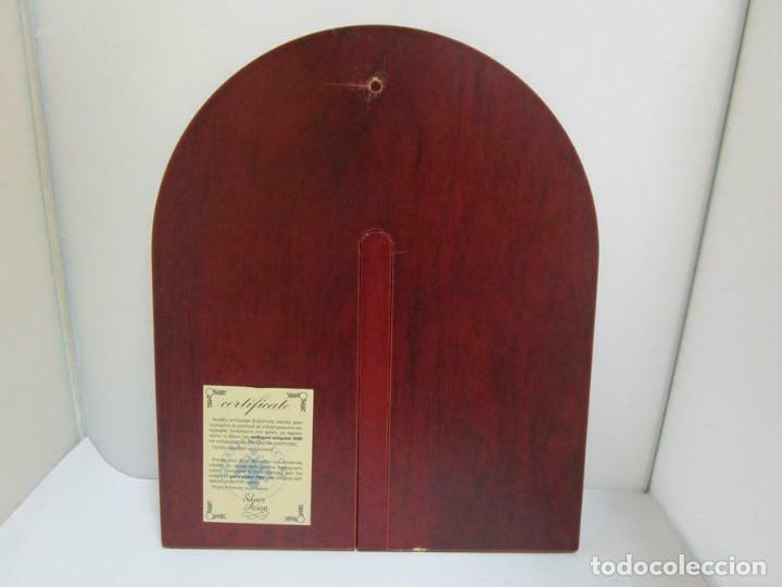 Arte: MARAVILLOSO ICONO PLATA LEY 998 mm 31 x 26 CM PARA COLGAR O SOBREMESA CERTIFICADO - Foto 4 - 253358150