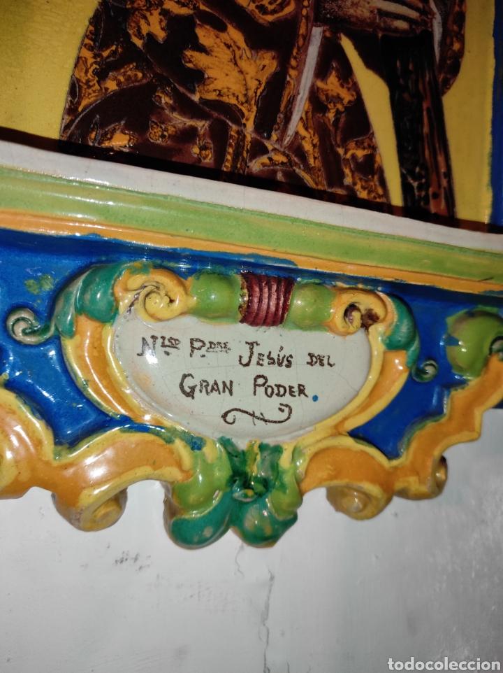 Arte: Antiguo Retablo Cerámico Jesús Del Gran Poder - Foto 13 - 139098413
