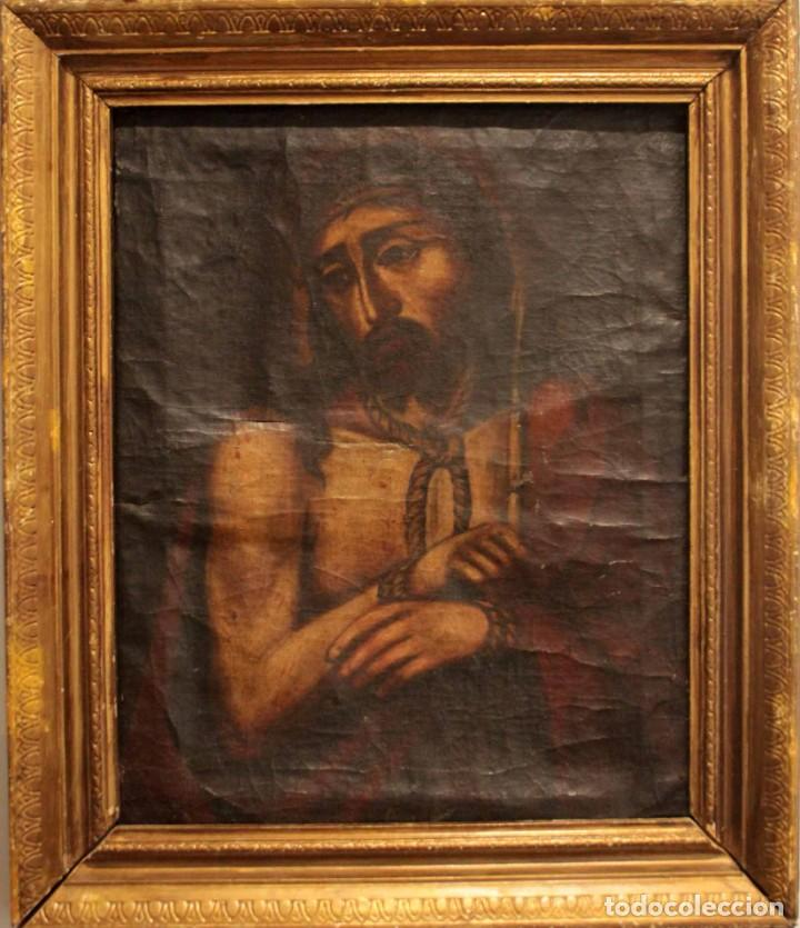 ÓLEO SOBRE LIENZO, ECCE HOMO, SIGLO XVI-XVII (Arte - Arte Religioso - Pintura Religiosa - Oleo)