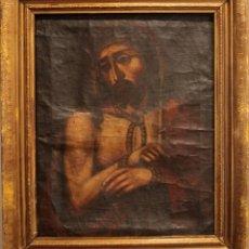 Arte: ÓLEO SOBRE LIENZO, ECCE HOMO, SIGLO XVI-XVII. Lote 253476275