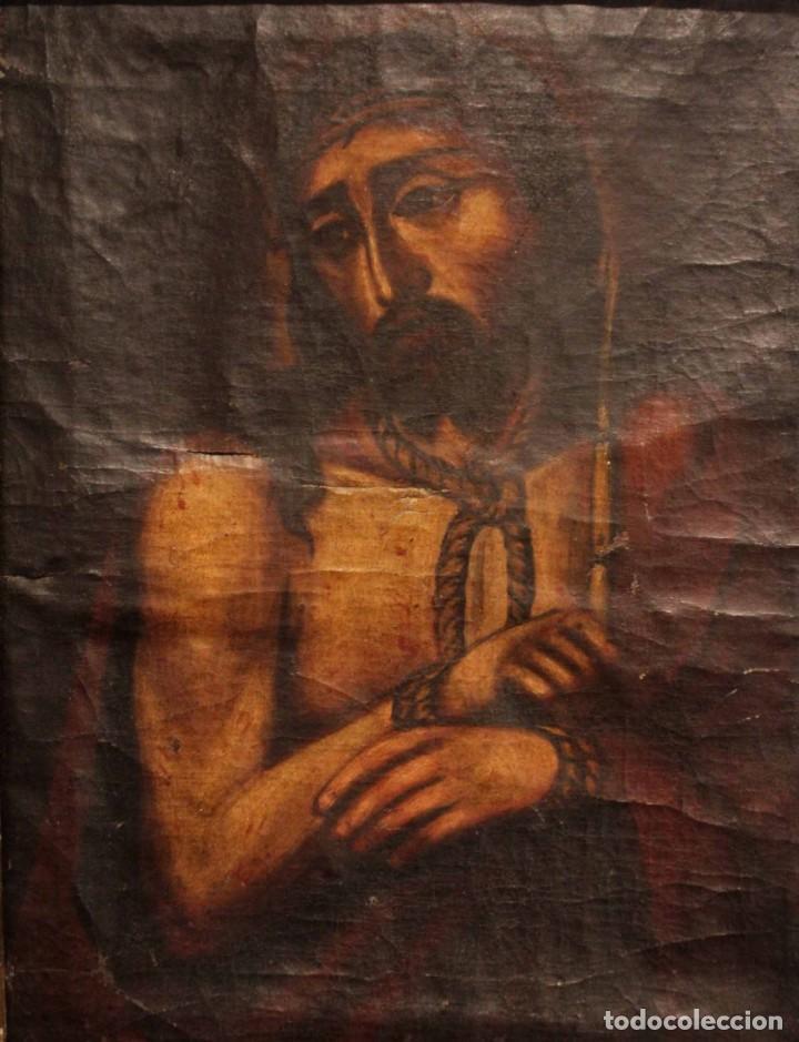 Arte: ÓLEO SOBRE LIENZO, ECCE HOMO, SIGLO XVI-XVII - Foto 2 - 253476275