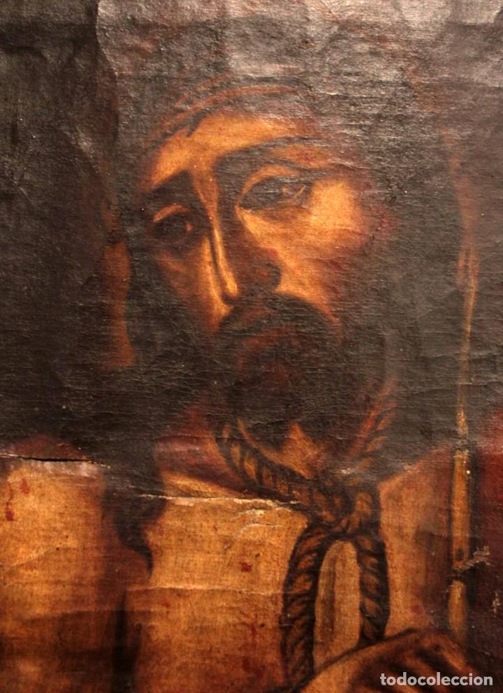 Arte: ÓLEO SOBRE LIENZO, ECCE HOMO, SIGLO XVI-XVII - Foto 3 - 253476275