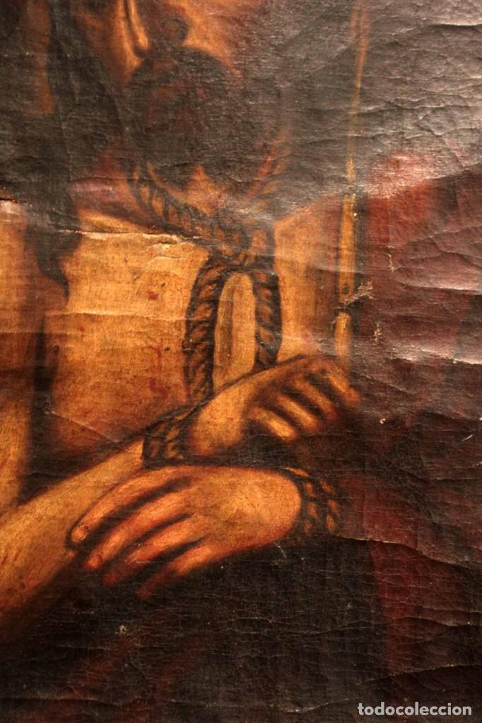 Arte: ÓLEO SOBRE LIENZO, ECCE HOMO, SIGLO XVI-XVII - Foto 4 - 253476275