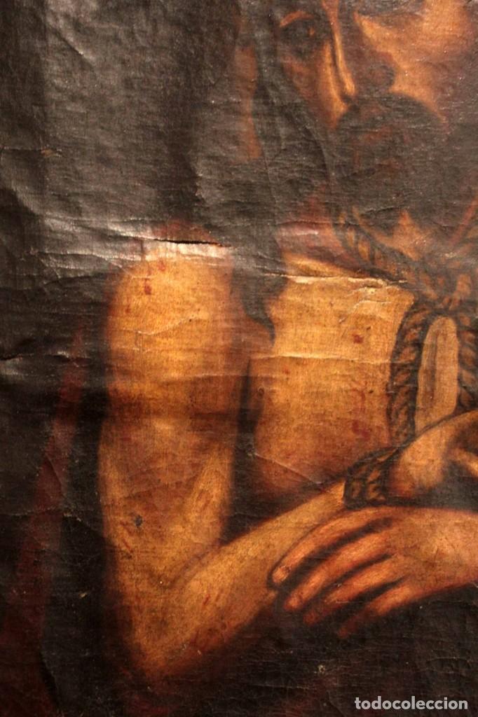 Arte: ÓLEO SOBRE LIENZO, ECCE HOMO, SIGLO XVI-XVII - Foto 6 - 253476275