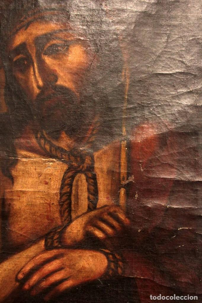 Arte: ÓLEO SOBRE LIENZO, ECCE HOMO, SIGLO XVI-XVII - Foto 7 - 253476275