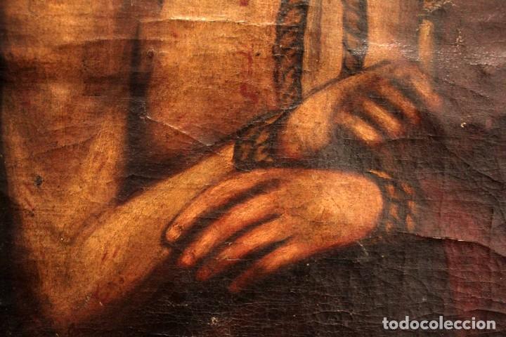 Arte: ÓLEO SOBRE LIENZO, ECCE HOMO, SIGLO XVI-XVII - Foto 8 - 253476275