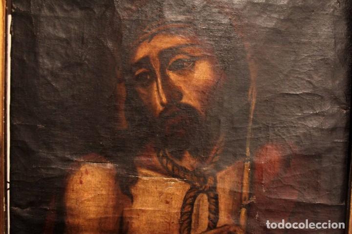 Arte: ÓLEO SOBRE LIENZO, ECCE HOMO, SIGLO XVI-XVII - Foto 9 - 253476275