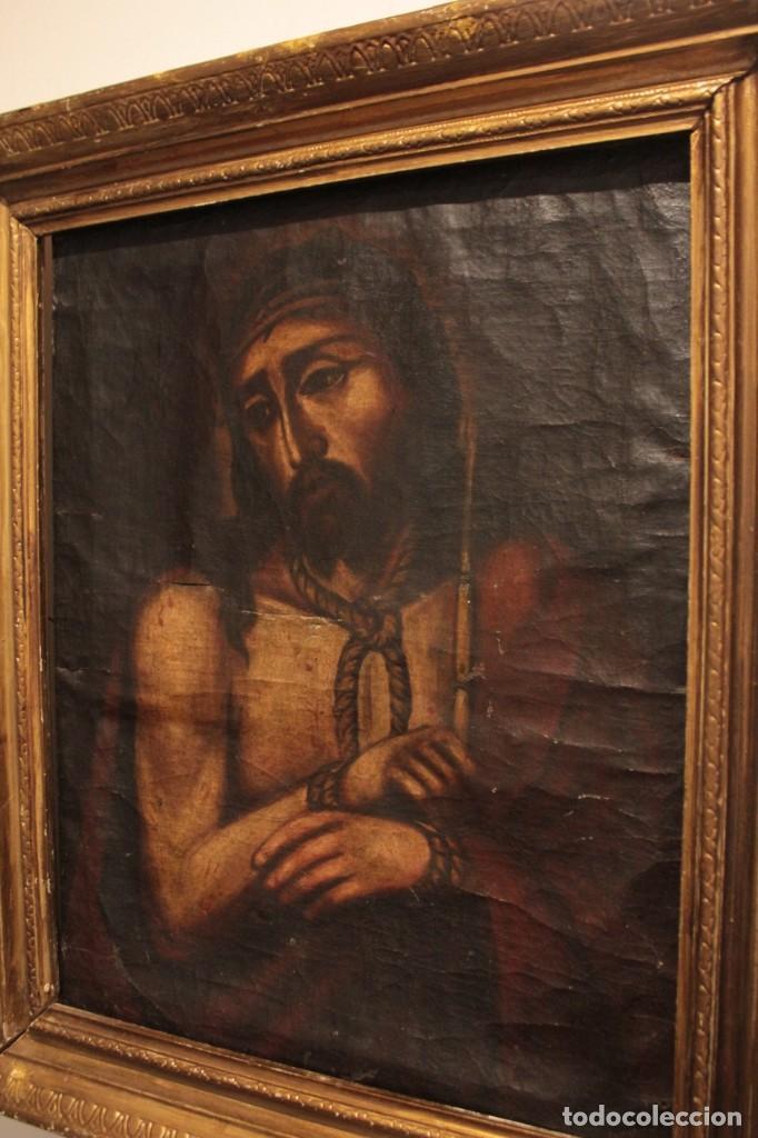 Arte: ÓLEO SOBRE LIENZO, ECCE HOMO, SIGLO XVI-XVII - Foto 11 - 253476275