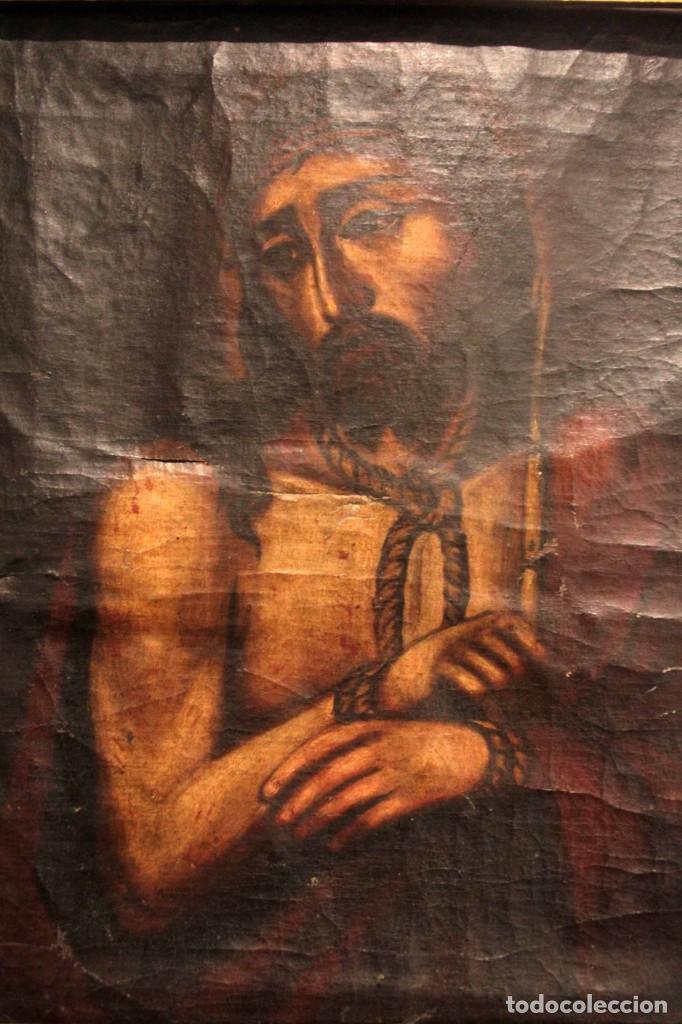 Arte: ÓLEO SOBRE LIENZO, ECCE HOMO, SIGLO XVI-XVII - Foto 12 - 253476275