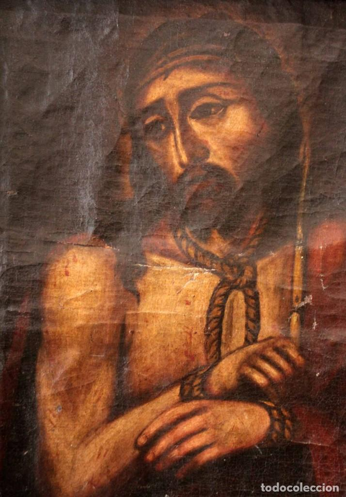 Arte: ÓLEO SOBRE LIENZO, ECCE HOMO, SIGLO XVI-XVII - Foto 13 - 253476275