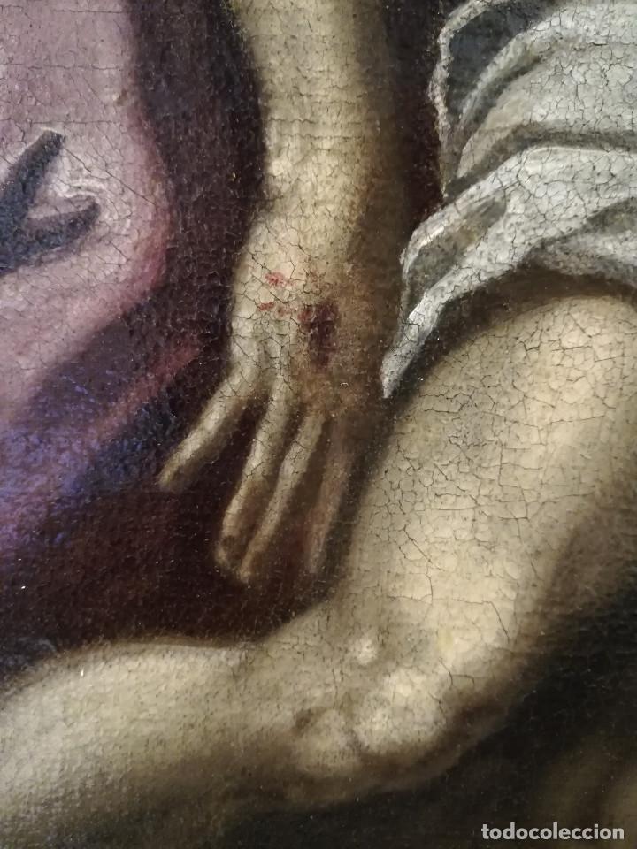 Arte: ESCUELA ITALIANA del siglo XVI / XVII. Cristo muerto sostenido por dos ángeles. - Foto 4 - 253551930