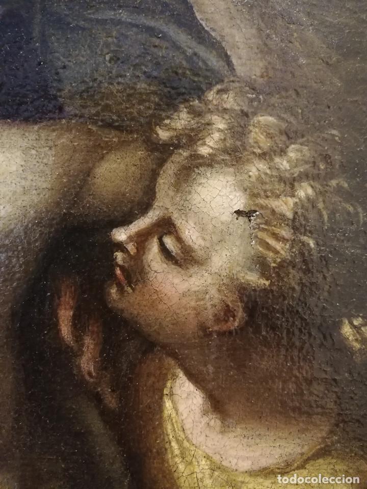Arte: ESCUELA ITALIANA del siglo XVI / XVII. Cristo muerto sostenido por dos ángeles. - Foto 7 - 253551930
