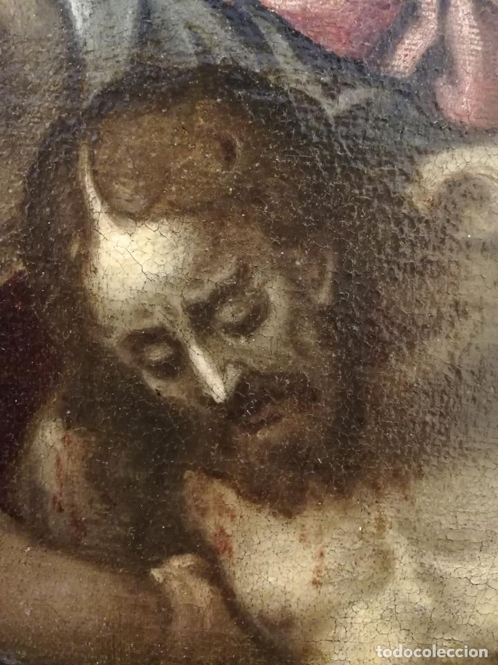 Arte: ESCUELA ITALIANA del siglo XVI / XVII. Cristo muerto sostenido por dos ángeles. - Foto 9 - 253551930
