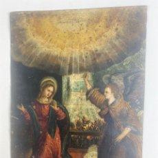 Arte: OLEO SOBRE COBRE, ANUNCIACIÓN. ESCUELA FLAMENCA. S.XVII.. Lote 253599050