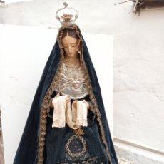 Arte: TALLA EN MADERA DE NUESTRA SEÑORA DE LOS DOLORES O SOLEDAD. SIGLO XIX. IMAGEN DE VESTIR. Lote 253941525