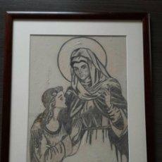 Arte: PEDRO ROCA - VIRGEN CON NIÑA CUADRO ENMARCADO. Lote 254122140